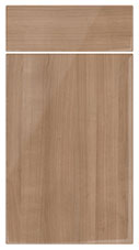 Gloss Cherrywood kitchen door and drawer fronts